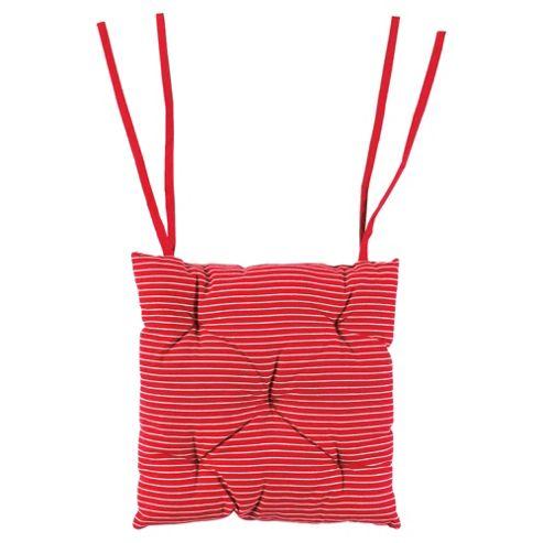 Tesco Red & White Stripe Seat Pads 2pk