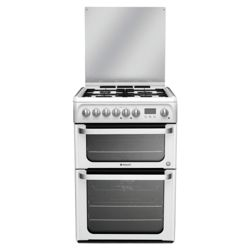 Hotpoint hud61ps dual fuel dbl oven cooker - white