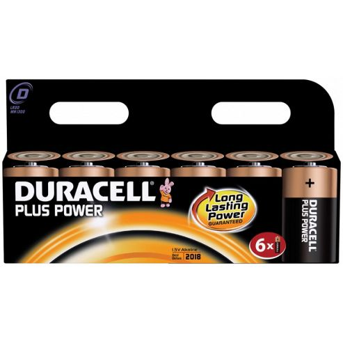 Duracell Plus 6 Pack D Batteries