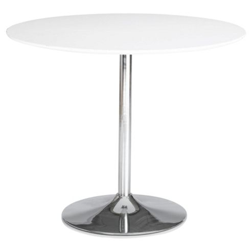 Barello High Gloss Dining Table, White