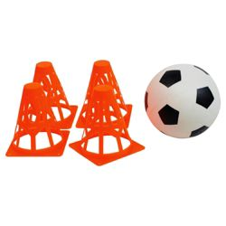 Tesco Football With 4 Cones