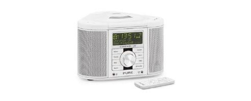 buy pure chronos cd ii cd dab dab fm alarm system white from our clock radio range tesco. Black Bedroom Furniture Sets. Home Design Ideas