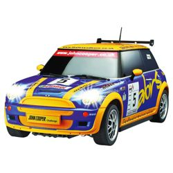 Auldey Mini Cooper 1:28 Blue/Yellow RC Toy Car