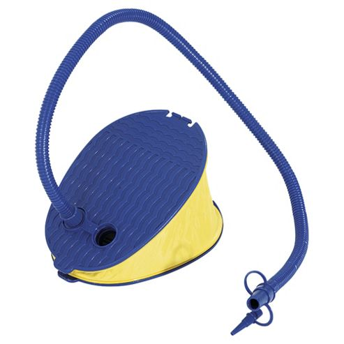 Tesco Foot Pump, Blue