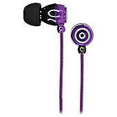 KitSound KS1 Earphones with Microphone Purple