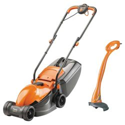 Flymo Lawnmower & Mini grass trimmer set