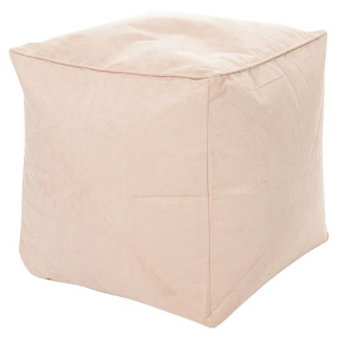 Buy Kaikoo Faux Suede Bean Bag Cube Latte From Our Bean