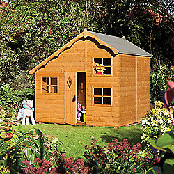 Rowlinson Playaway Cottage Wooden Playhouse, 8ft x 6ft