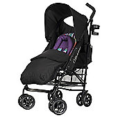 Obaby Atlas Lite Stroller with Footmuff - Purple Stripe