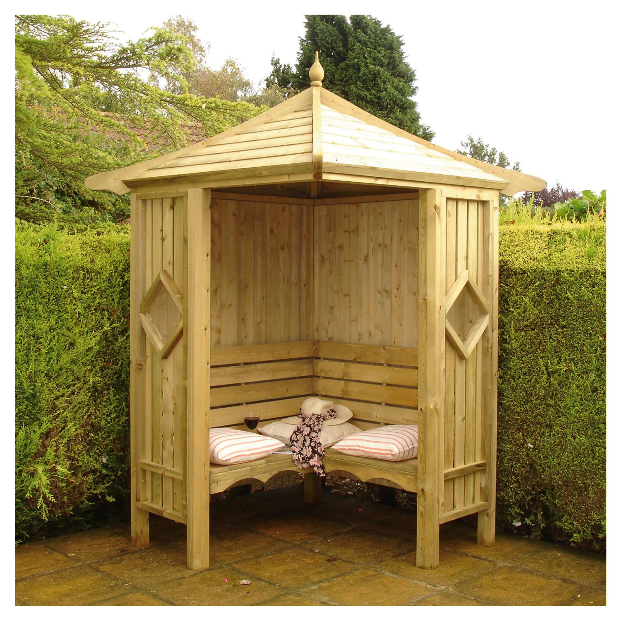 Finewood Corner Arbour 5x5 at Tesco Direct