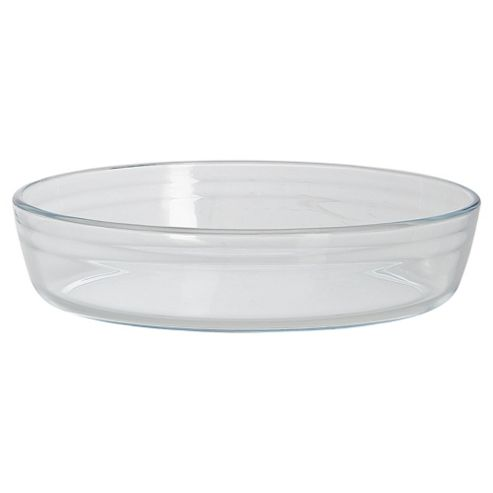 Tesco 25x17cm Oval Glass Dish