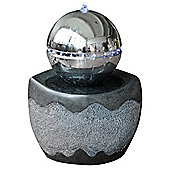 Bermuda Stockholm Water Feature with Stainless Steel Sphere