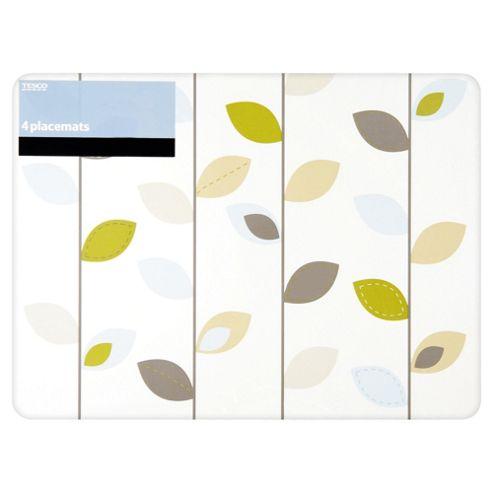 Tesco Leaf Set of 4 Placemats