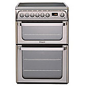 Hotpoint Hue61X Stainless Steel Ceramic Dbl Oven Electric Cooker