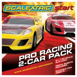 Scalextric C3164 Start Pro Racing 1:32 Scale Start Car Twin Pack
