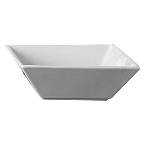 Super White Square Cereal Bowl, Porcelain