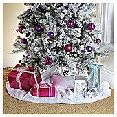 Festive Christmas Snow Blanket, White