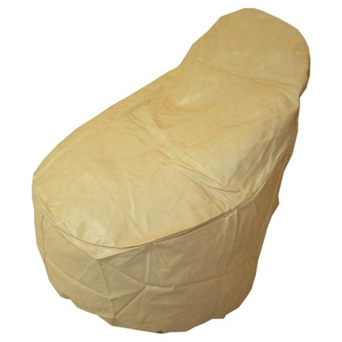 Kaikoo Ezee Faux Leather Bean Bag Chair, Cream