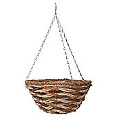 "14"" Spiral Banana Leaf Hanging Basket"