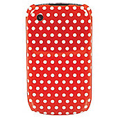 Orbyx Polka Dot Hard Shell BlackBerry 8520 & 9300 Red