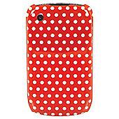Orbyx Polka Dot Hard Shell BlackBerry 8520 & 9300 Red