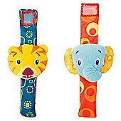 Bright Starts Rattle Me Wrist Pals, Twin Pack