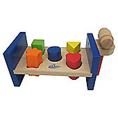 Carousel Hammering Bench Wooden Toy