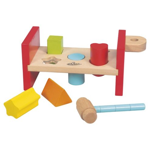 Carousel Wooden Bench Hammering Toy