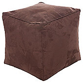 Kaikoo Faux Suede Bean Bag Cube, Chocolate