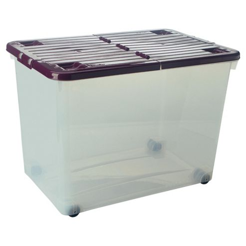 80l Box With Wheels Plum