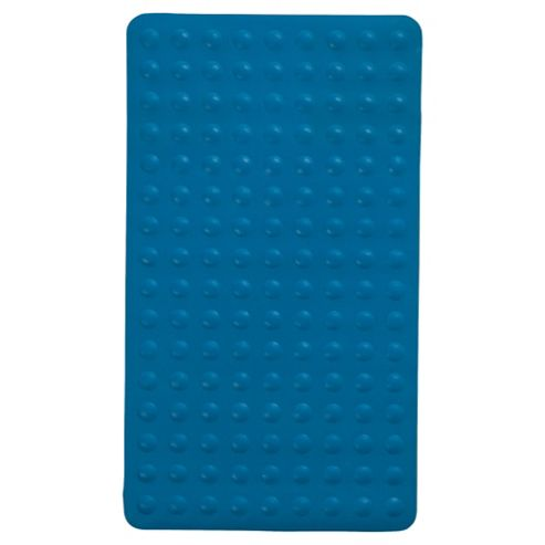 Tesco Rubber Bubble Bath Mat Blue