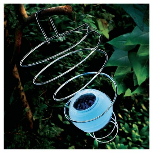 Solar spiral wind spinner light