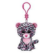 """Ty Beanie Boo Boos 3"""" Key Clip - Tasha the Leopard"""