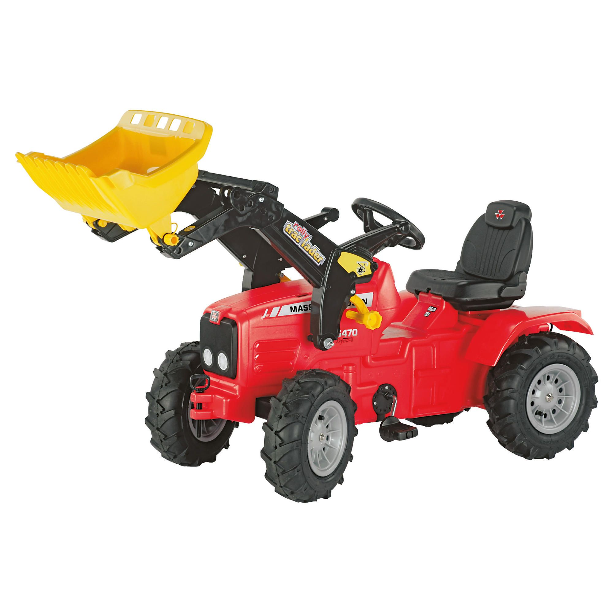Massey Ferguson 5470 Ride-On Tractor With Pneumatic Tyres & Rolly Trac Loader at Tesco Direct