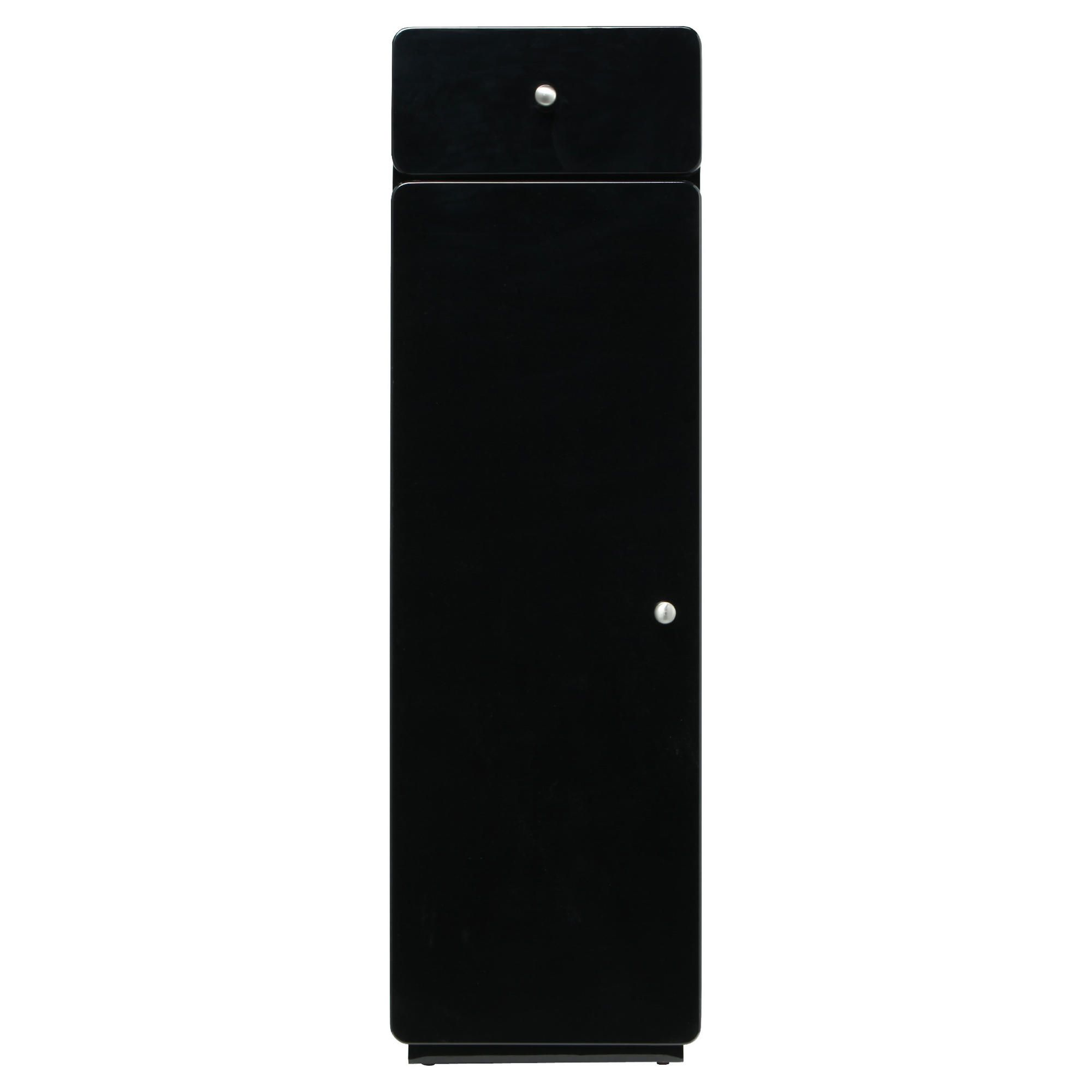 Stockholm Black Gloss Unit Cabinet with single drawer & door