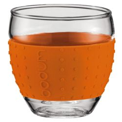 Bodum Pavina Set of 2 0.35L Glasses, Orange.