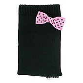 Trendz Black with Pink Bow iPod sock Pink