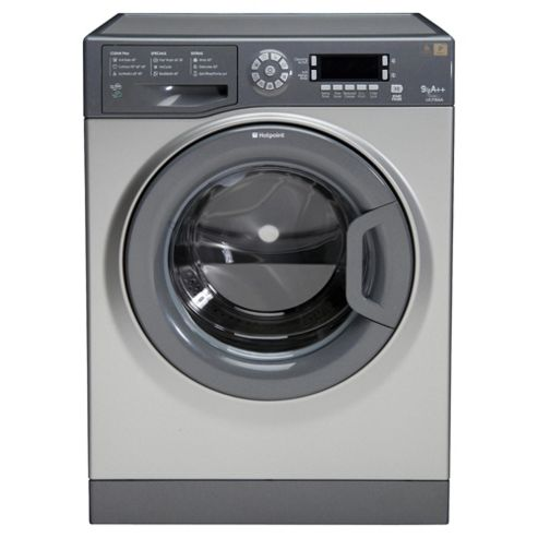 Hotpoint Ultima WMUD942G Washing Machine, 9Kg Wash Load, 1400 RPM Spin, A++ Energy Rating, Graphite
