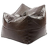 Kaikoo Faux Leather Chillout Chair, Brown