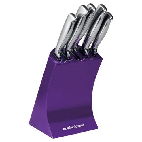 Morphy Richards 5 piece Knife Block, Purple