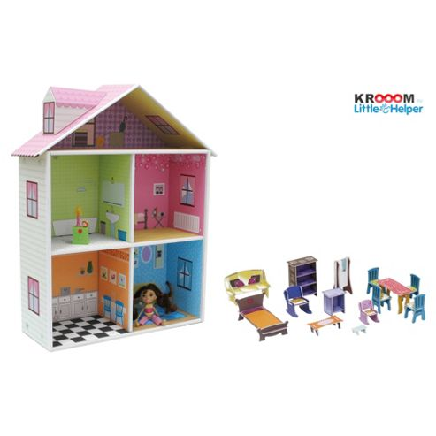 Krooom Dollhouse With Figurines