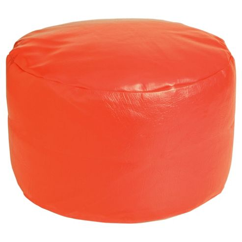 Kaikoo Faux Leather Pouffe, Red