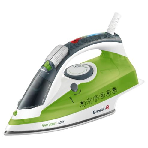 Breville VIN252 vertical steam feature Iron with Ceramic Plate - White/Green