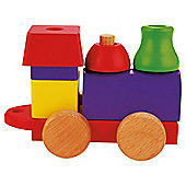 Carousel  Block Train Wooden Toy