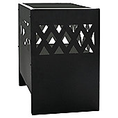 La Hacienda Square Lattice Steel Fire basket