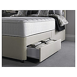 Silentnight Pocket Essentials Memory Foam Single 2 Drawer Divan Bed