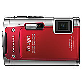 Olympus TG-610 tough camera red 14MP 5x wide zoom 3.0 LCD 720P HD movie WTPRF