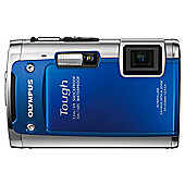 Olympus TG-610 tough camera blue 14MP 5x wide zoom 3.0 LCD 720P HD movie WTPRF