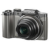 Olympus SZ-30 traveller camera silver 16MP 24x wide zoom 3.0 LCD full HD movie