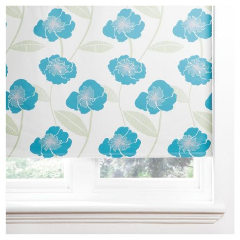 Tesco Poppy Roller Blind 60x160cm Teal